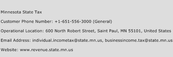 Minnesota State Tax Phone Number Customer Service