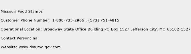 Dss Food Stamps Phone Number