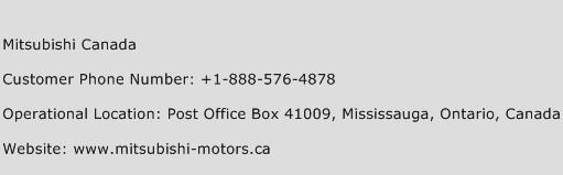 Mitsubishi Canada Customer Service Phone Number Contact Number - Mitsubishi motors phone number
