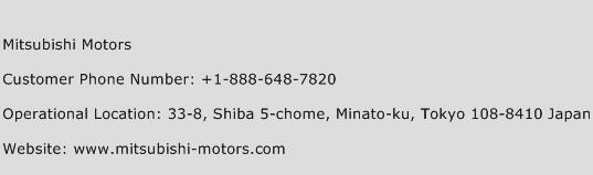 Mitsubishi Motors Phone Number Customer Service