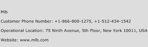Mlb Phone Number Customer Service