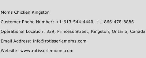 Moms Chicken Kingston Phone Number Customer Service
