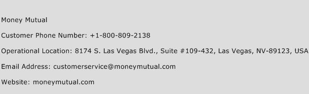 Money Mutual Phone Number Customer Service