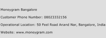 Moneygram Bangalore Phone Number Customer Service