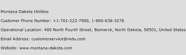 Montana Dakota Utilities Phone Number Customer Service