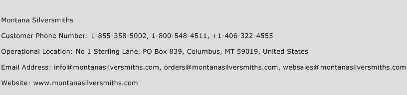 Montana Silversmiths Phone Number Customer Service