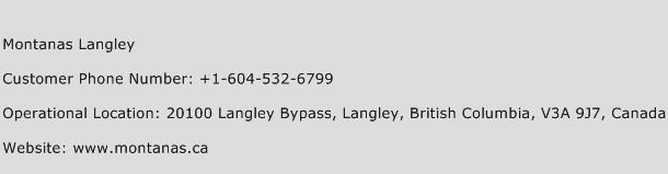Montanas Langley Phone Number Customer Service