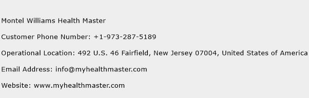 Montel Williams Health Master Phone Number Customer Service