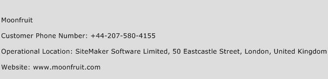 Moonfruit Phone Number Customer Service