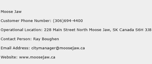 Moose Jaw Phone Number Customer Service