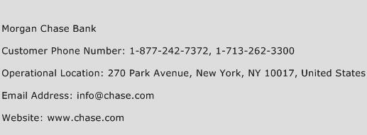 Morgan Chase Bank Phone Number Customer Service