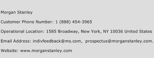 Morgan Stanley Phone Number Customer Service