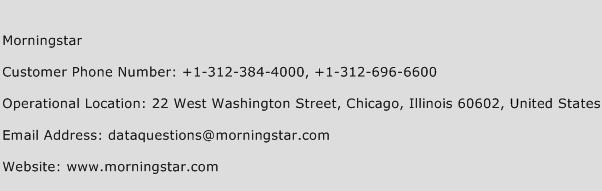 Morningstar Phone Number Customer Service