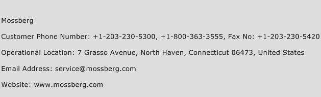 Mossberg Phone Number Customer Service