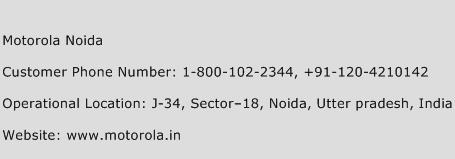 Motorola Noida Phone Number Customer Service