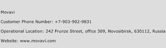 Movavi Phone Number Customer Service