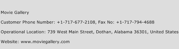 Movie Gallery Phone Number Customer Service