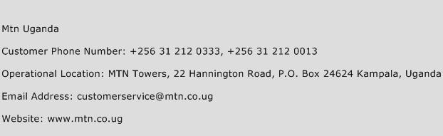 Mtn Uganda Phone Number Customer Service