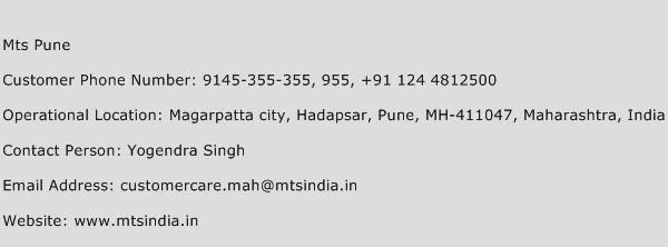 Mts Pune Phone Number Customer Service