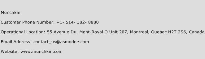Munchkin Phone Number Customer Service