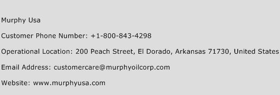 Murphy USA Phone Number Customer Service