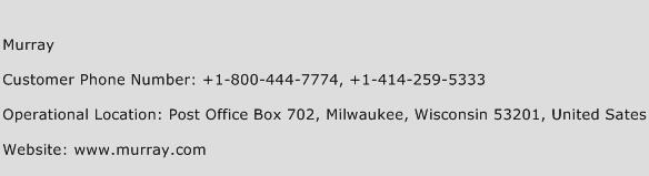 Murray Phone Number Customer Service