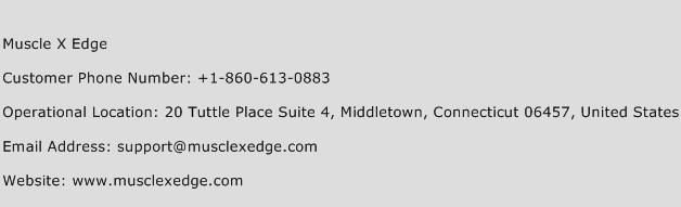 Muscle X Edge Phone Number Customer Service