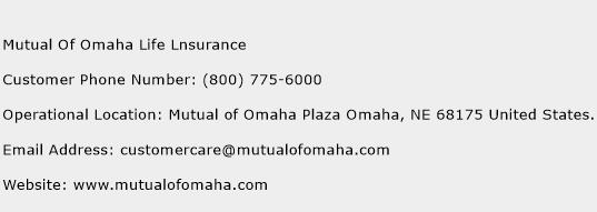 Mutual Of Omaha Life Lnsurance Phone Number Customer Service