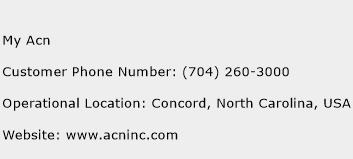 My Acn Phone Number Customer Service