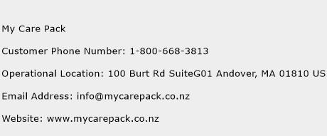 My Care Pack Phone Number Customer Service