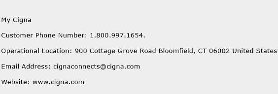 My Cigna Phone Number Customer Service