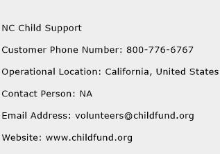 NC Child Support Phone Number Customer Service
