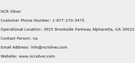 NCR Silver Phone Number Customer Service