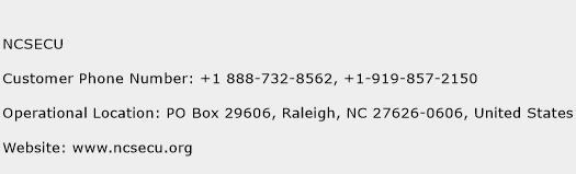 NCSECU Phone Number Customer Service