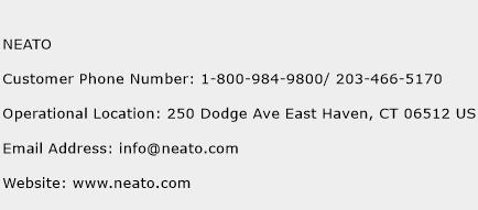 NEATO Phone Number Customer Service