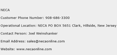 NECA Phone Number Customer Service
