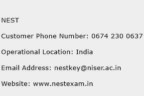 NEST Phone Number Customer Service