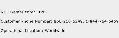 NHL GameCenter LIVE Phone Number Customer Service