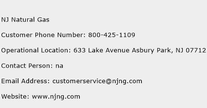 NJ Natural Gas Phone Number Customer Service