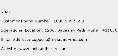 NPAV Phone Number Customer Service