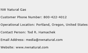 NW Natural Gas Phone Number Customer Service
