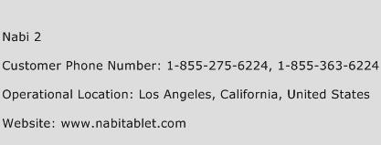 Nabi 2 Phone Number Customer Service