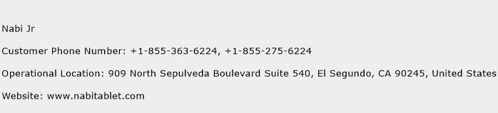 Nabi Jr Phone Number Customer Service