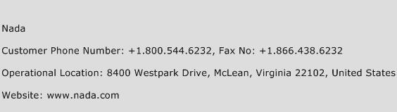Nada Phone Number Customer Service
