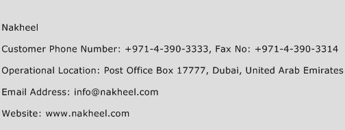 Nakheel Phone Number Customer Service