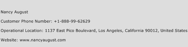 Nancy August Phone Number Customer Service