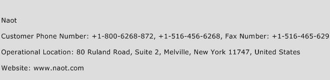 Naot Phone Number Customer Service