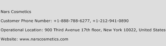 Nars Cosmetics Phone Number Customer Service