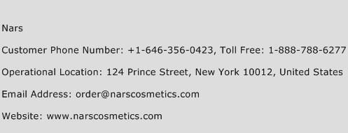 Nars Phone Number Customer Service