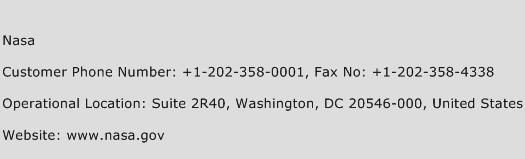 Nasa Phone Number Customer Service